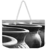 Pots In Black And White Weekender Tote Bag