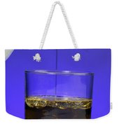 Pouring Oil Into Vinegar Weekender Tote Bag by Photo Researchers, Inc.