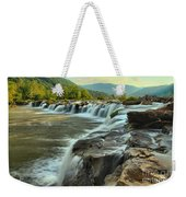 Pouring Over Sandstone Weekender Tote Bag