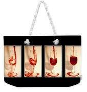 Pouring Red Wine Weekender Tote Bag by Svetlana Sewell