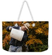 Pouring Wine Weekender Tote Bag by Jean Noren