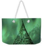 Powerlines And Aurora Borealis Weekender Tote Bag