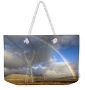 Powerlines, Rainbow Forms As Evening Weekender Tote Bag