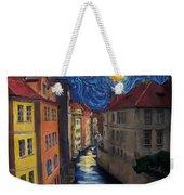 Prague By Moonlight Weekender Tote Bag