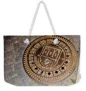 Prague Manhole Cover Weekender Tote Bag
