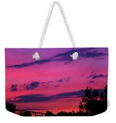 Prague Sunset Weekender Tote Bag