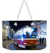 Prague Tram Weekender Tote Bag
