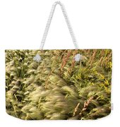 Prairie Crop With Weeds Weekender Tote Bag