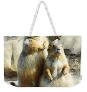 Prairie Dog Formal Portrait Weekender Tote Bag
