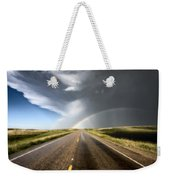 Prairie Hail Storm And Rainbow Weekender Tote Bag