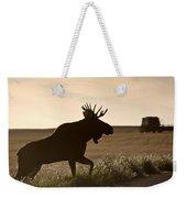 Prairie Moose Weekender Tote Bag