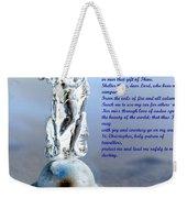 Prayer To St Christopher Weekender Tote Bag