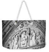 Prayers At Notre Dame - Black And White Weekender Tote Bag