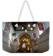 Praying At The St Mary Church Inside Dover Castle In England Weekender Tote Bag