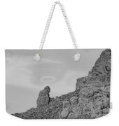 Praying Monk With Halo Camelback Mountain Bw Weekender Tote Bag