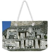 Pre-columbian Stone Ruin With Relief Weekender Tote Bag