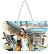 Preaching The Bible On The Conquistadores Boat In Vila Do Conde In Portugal Weekender Tote Bag by Miki De Goodaboom