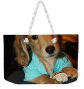 Precious Puppy Weekender Tote Bag