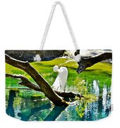 Preening Watercolor Weekender Tote Bag