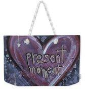 Present Moment Heart Weekender Tote Bag