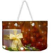 Present Sock Shape Short Bread Cookie In Christmas Tree Weekender Tote Bag