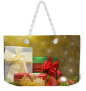 Presents Decorated With Christmas Decoration Weekender Tote Bag