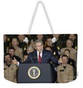 President George W. Bush Speaks Weekender Tote Bag