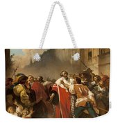 President Mole Manhandled By Insurgents Weekender Tote Bag