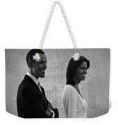 President Obama And First Lady Bw Weekender Tote Bag by David Dehner