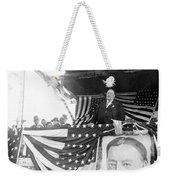 President Taft Giving A Speech In Augusta - Georgia C 1910 Weekender Tote Bag