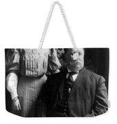 President William Howard Taft With Daughter Weekender Tote Bag by International  Images