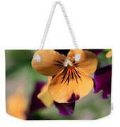Prettiest Pansy Weekender Tote Bag