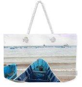 Pretty Blue Boat Weekender Tote Bag