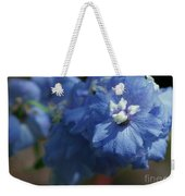 Pretty Blue Delphinia Weekender Tote Bag