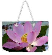 Pretty Pink Lotus Weekender Tote Bag