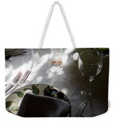 Pretty Place Setting Weekender Tote Bag