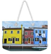 Primary Colors In Burano Italy Weekender Tote Bag