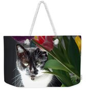 Princess The Cat And Tulips Weekender Tote Bag