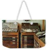 Print Shop Weekender Tote Bag