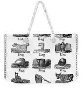 Printers Cuts, 1825 Weekender Tote Bag