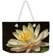 Pristine Water Lily Weekender Tote Bag