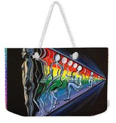 Projection With Rainbow Scroll Border Weekender Tote Bag