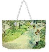 Promenaders In The Garden Weekender Tote Bag