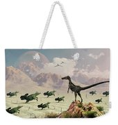 Protoceratops Stampede In Fear Weekender Tote Bag