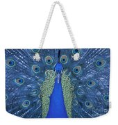 Proud Peacock Weekender Tote Bag