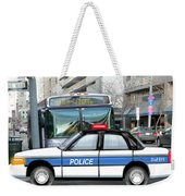 Proud Police Car In The City  Weekender Tote Bag