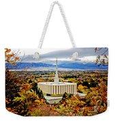 Provo Temple Oak Weekender Tote Bag