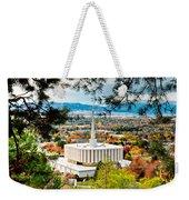 Provo Temple Pine Frame Weekender Tote Bag