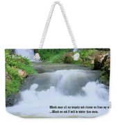 Psalm 51 2 Weekender Tote Bag by Kristin Elmquist