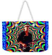 Psychedelia Within A Blue Framework Weekender Tote Bag